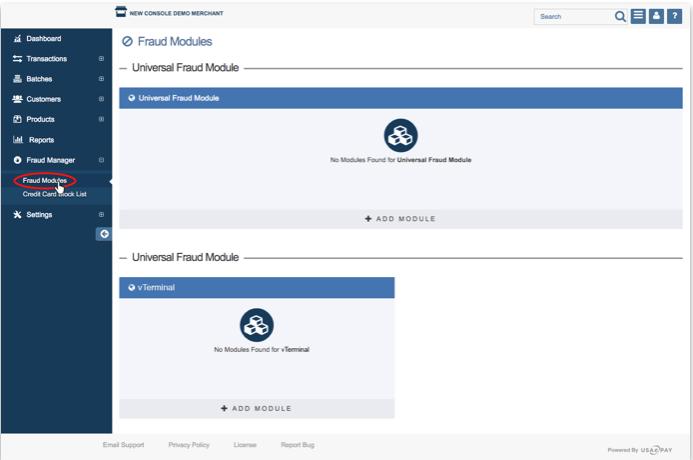 Fraud Modules - USAePay Help