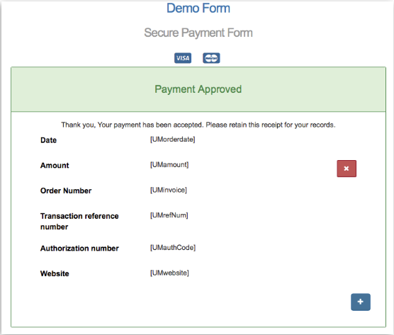 Payment forms usaepay help this screen is edited the same way as the payment form except that all fields are restricted to display only altavistaventures Choice Image